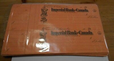 8x Vintage Imperial Bank Of Canada - Cheques From Cheque Book St. catharines