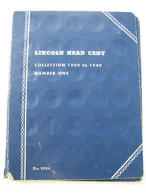 Whitman Coin Folder - Lincoln Cents Collection 1909 Number One - 45 Coins - 9004