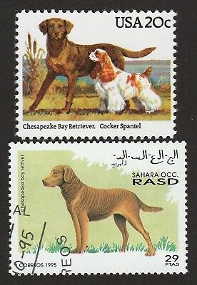 CHESAPEAKE BAY RETRIEVER ** Int'l Dog Postage Stamp Collection ** Unique Gift*
