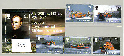 Isle of Man stamps  175th. anniversary of R.N.L.I. March 1999, #247.