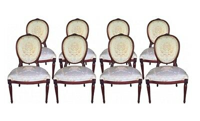Neoclassical Style Mahogany Dining Chairs (2 chairs)