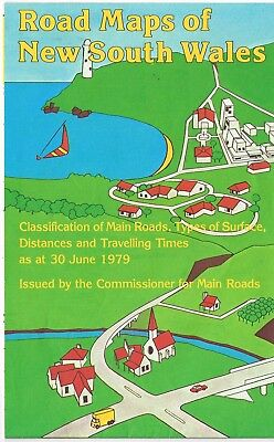 Vintage 1979 Road Maps of New South Wales by Commissioner for Main Roads