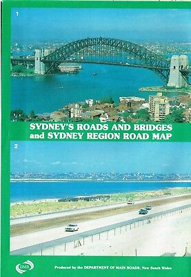 1983 Sydney's Roads & Bridges & Region Road Map by Commissioner for Main Roads