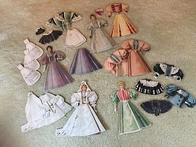 "Vtg. Advertising McLaughlin Coffee ""The 16 Victorian Ladies"" Paper Dolls (Set 2)"