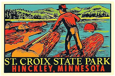 St. Croix State Park - Hinckley Minnesota  Vintage 1950's Style Travel Decal