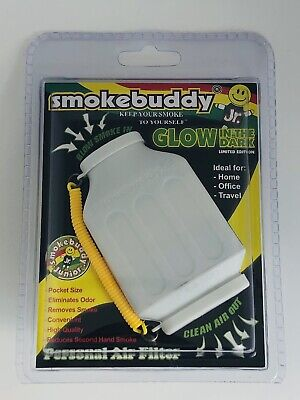 The Smoke Buddy Jr Glow In The Dark - Personal Air Filter Eliminates Smoke Odor