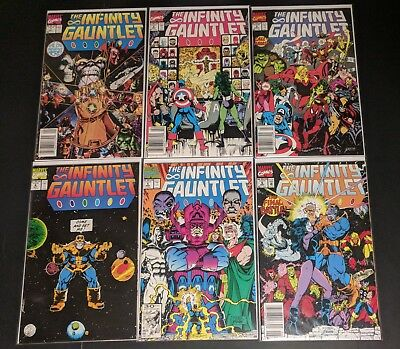 The Infinity Gauntlet (1991) #1-6 Complete Set VF/NM