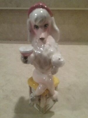 Miss Fifi Bar Hound Enesco French Poodle Martini drinking figurine