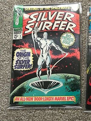 Marvel comic silver surfer issue 1 1968 Nice VF origin of the silver surfer CGC