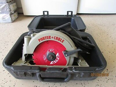 """Porter-Cable  743 Left Blade 7 1/4"""" Corded Circular Saw with Case, Very Nice"""
