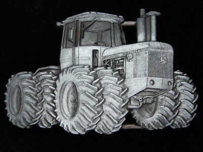 Qc03138 Vintage 1980 Cut-Out **john Deere 8X8 Tractor** Pewter Belt Buckle