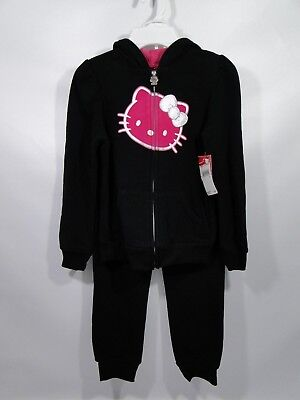 71cf8f85e NWT HELLO KITTY Girls Pink Fleece Hoodie Jacket~Embellished Hello ...