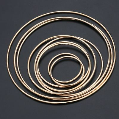 10PCS Multi-size Simple Dreamcatcher Round Gold Metal Hoop Ring for DIY Craft AU