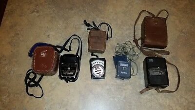 Lot of 4 Vintage Exposure Meters from various manufacturers!