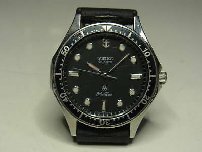 Seiko Silver Wave Diver Type 6030-6000 Mens Watch Quartz Battery Replaced