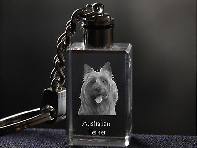 Australian Terrier, Crystal Keyring, Keychain, High Quality, Crystal Animals USA