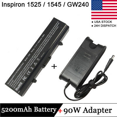 OE FOR DELL Inspiron 1440 1525 1526 1545 1750 X284G GW240 Battery+Charger K450N