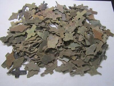Metal detector finds.Mix lot  ancient crosses (The age of 17-19)  200 pieces.
