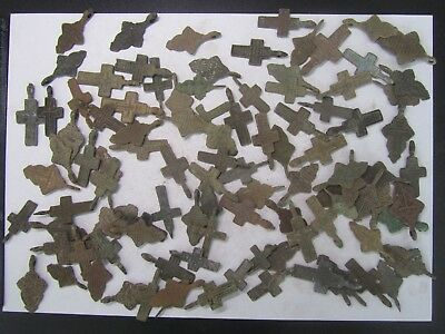 Metal detector finds.Mix lot  ancient crosses (The age of 17-19)  100 pieces.