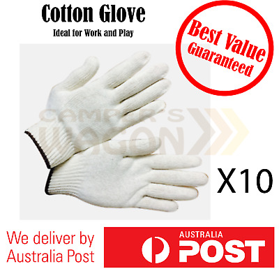 Safety Work Cotton Gloves Knitted Labor Garden Hand Protect Glove 10 pairs
