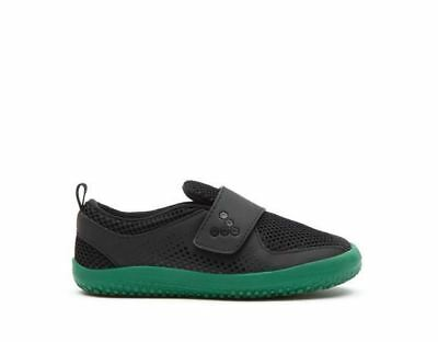 New Vivobarefoot Mini Primus Kids Black/Green Minimalist Sneaker Trainer