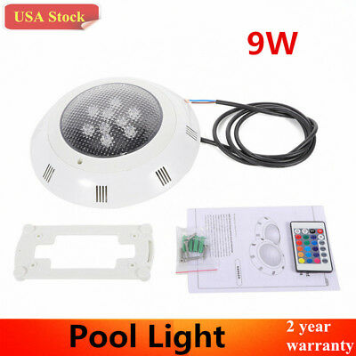 RGB LED Swimming Pool Light IP68 Waterproof Spa Underwater Lamp + Remote Control