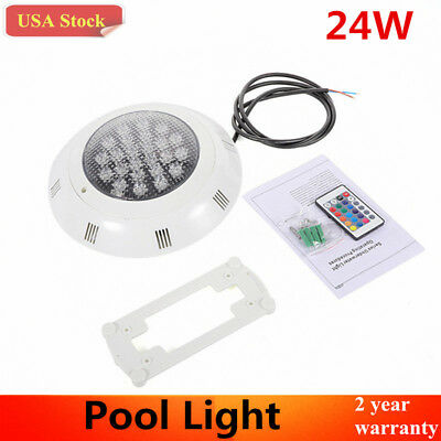 24W LED RGB Underwater Light Swimming Pool Party Spa Lamp with Remote Control