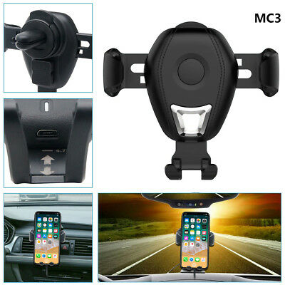 Wireless Car Charger Magnetic Air Vent Mount Phone Holder For iPhone X 10 8 Plus