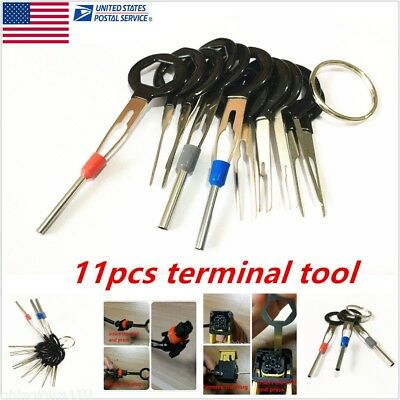 Car Wiring Connector Pin Extractor Puller Release Terminal Removal Tool Kit 11PC