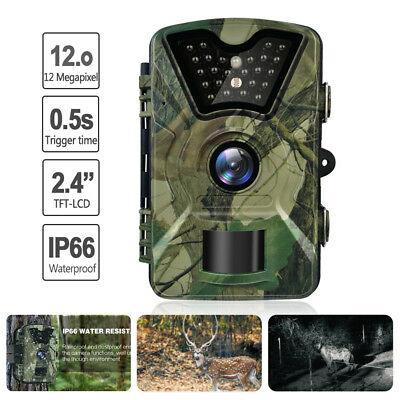 12MP IP66 HD 1080P Video Wildlife IR Trail Hunting Camera Night Vision Game Cam
