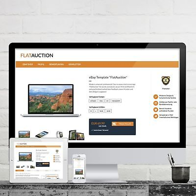 FLATAUCTION eBay Listing Template 2018 RESPONSIVE Professional Design Template
