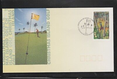 """Christmas Island 1995 """"Golf"""".  First Day Cover. $2.50 Stamp. See Photo."""