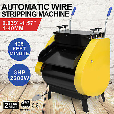 Automatic Wire Stripping Machine with Foot Pedal Tool Cable Stripping Cutting