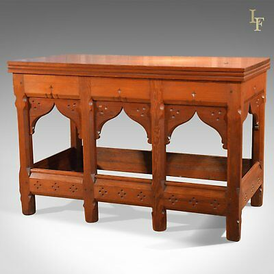 Arts and Crafts Antique Serving Table, c.1880