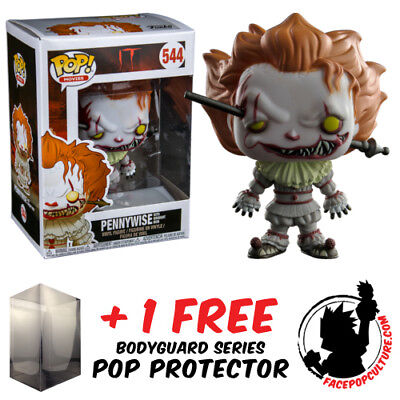Funko Pop Vinyl It 2017 Pennywise Wrought Iron Exclusive + Free Pop Protector