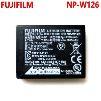 Genuine Fujifilm NP-W126 W126 Battery For X-T1 X-T10 X-Pro1 HS50 EXR NP-W126S