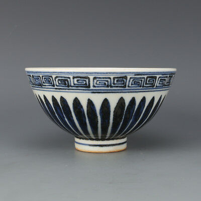 Chinese Old Blue And White Melon & Fruits Pattern Porcelain Heart-Shaped Bowl