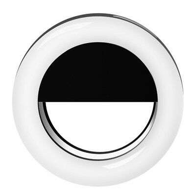 USB Charging Round Shape Portable Selfie LED Ring Flash Light Fit for phones