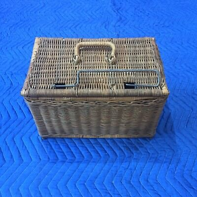 Old Fishing Tackle Basket,  360 x  240 x 230mm High