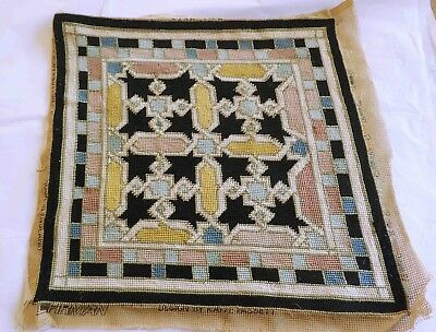Vintage EHRMAN Completed Tapestry  - Star Tile By Kaffe  Fassett 1985