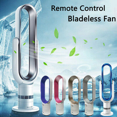 "16"" 18'' Bladeless Fan With Remote Control AirFlow Cooling Low db Home Office UK"