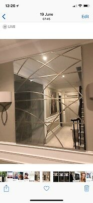 Large Contemporary Designer Wall Mirror - perfect condition, 47.5in x 59.5in