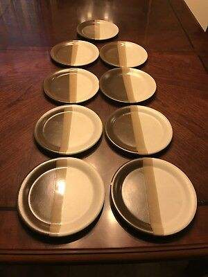 Set of 8 McCoy SANDSTONE Dinner Plates. Fast Shipping!
