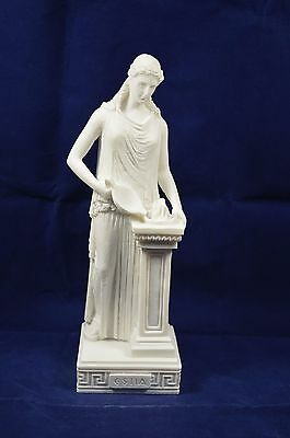 Hestia sculpture ancient Greek Goddess of the agriculture alabaster artifact