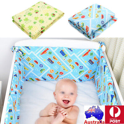 AU 120x30cm Baby Crib Bumper Breathable Cotton Infant Toddler Bed Cot Protector