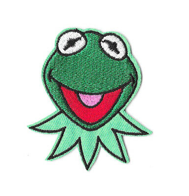 KERMIT THE FROG Iron on Patch Embroidered Badge Motif Cartoon Sew PT40