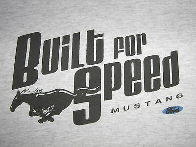 MUSTANG T-SHIRT---BUILT for SPEED-- Lg or XL