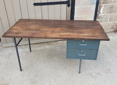 Vintage industrial Metal Desk