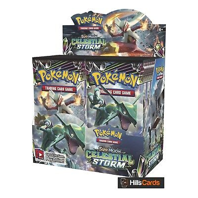 Pokemon Sun & Moon Celestial Storm Sealed Booster Box of 36 Packs SM-7 TCG Cards