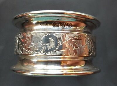 Chester Hallmarked Silver Napkin Ring Good Quality